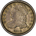 Bust Dimes: , 1836 10C JR-1, R.3. Reiver state b. AU58 NGC. Attractive mediumgray throughout, with clean surfaces that show minimal dist...