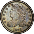 Bust Dimes: , 1836 10C JR-2, R.2. Reiver state a.--Improperly Cleaned--NCS. XFDetails. Dark gray with bluish hints in the fields from be...