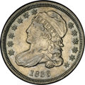 Bust Dimes: , 1836 10C JR-3, R.3. Reiver state b. AU58 NGC. A well struck andattractive example of this die pairing. Traces of luster re...
