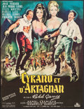 """Movie Posters:Foreign, Cyrano et d'Artagnan (Cocinor, 1964). French Affiche (22.25"""" X 29""""). Foreign.. ..."""