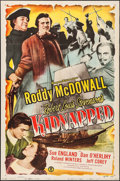 "Movie Posters:Adventure, Kidnapped (Monogram, 1948). One Sheet (27"" X 41""). Adventure.. ..."
