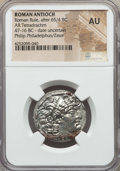 Ancients:Roman Provincial , Ancients: SYRIA. Antioch. Roman Rule, in the name of PhilipPhiladelphus (ca. 95-75 BC). AR tetradrachm. NGC AU....