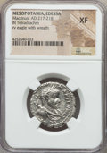 Ancients:Roman Provincial , Ancients: MESOPOTAMIA. Edessa. Macrinus (AD 217-218). BItetradrachm. NGC XF....