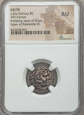 Ancients:Celtic, Ancients: EASTERN CELTS. Imitating Alexander III the Great (336-323BC). AR drachm. NGC AU....