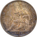 French Cochin China: French Colony Proof 20 Cents 1879-A PR66 NGC