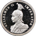 German East Africa, German East Africa: German Colony. Wilhelm II Proof 1/4 Rupie1910-J PR67 Ultra Cameo NGC,...