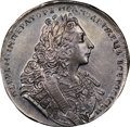 Russia, Russia: Peter II Rouble 1729 AU58 NGC,...