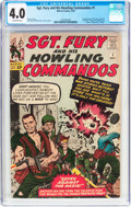 Silver Age (1956-1969):War, Sgt. Fury and His Howling Commandos #1 (Marvel, 1963) CGC VG 4.0 Off-white pages....