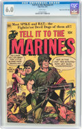 Golden Age (1938-1955):War, Tell It to the Marines #1 Mile High Pedigree (Toby Publishing,1952) CGC FN 6.0 White pages....