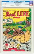 Golden Age (1938-1955):Non-Fiction, Real Life Comics #50 Mile High Pedigree (Nedor Publications, 1949)CGC VF+ 8.5 Off-white to white pages....