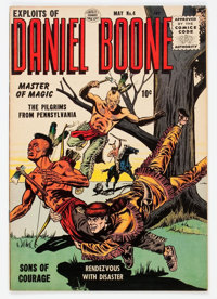 Exploits of Daniel Boone #4 (Quality, 1956) Condition: VF/NM