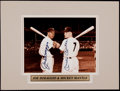Baseball Collectibles:Photos, Joe DiMaggio and Mickey Mantle Dual Signed Photograph....