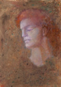 Works on Paper, Leonor Fini (1908-1996). Passages XII, dormeur, 1985. Oil on paper. 29 x 21-1/2 inches (73.7 x 54.6 cm) (sight). Signed ...