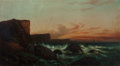Fine Art - Painting, American:Other , De Haas (American, 19th Century). In the Breakers, PacificCoast. Oil on canvas. 20 x 36 inches (50.8 x 91.4 cm).Signed...