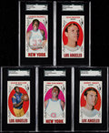 Basketball Cards:Lots, 1969 Topps Basketball SGC Graded Collection (5) With Jerry West....