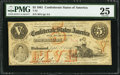 Confederate Notes:1861 Issues, T32 $5 1861 PF-2 Cr. 249.. ...