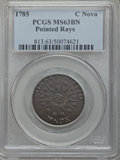 Colonials, 1785 Nova Constellatio Copper, Pointed Rays, Large Date MS63 Brown PCGS. Crosby 3-B, W-1895, R.2....