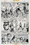 Original Comic Art:Panel Pages, Paul Gulacy and Dan Adkins Master of Kung Fu #39 Page 2Original Art (Marvel, 1976)....