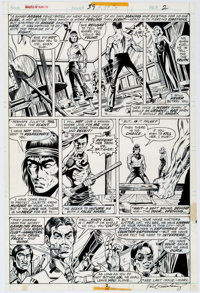 Paul Gulacy and Dan Adkins Master of Kung Fu #39 Page 2 Original Art (Marvel, 1976)
