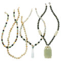 Estate Jewelry:Necklaces, Multi-Stone, Gold, Silver, Yellow Metal Necklaces. ... (Total: 4Items)