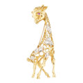 Estate Jewelry:Brooches - Pins, Diamond, Ruby, Gold Brooch, Neiman Marcus. . ...