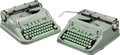 Books:Furniture & Accessories, [Larry McMurtry]. Pair of Hermes 3000 Typewriters. [Yverdon,Switzerland: E. Paillard, circa 1963-1970]. Larry McMurtry's ty...(Total: 2 Items)