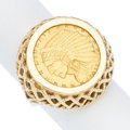 Estate Jewelry:Rings, US $2.50 Liberty Coin, Gold Ring. . ...