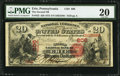 National Bank Notes:Pennsylvania, Erie, PA - $20 1875 Fr. 432 The Second NB Ch. # 606. ...