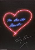 Prints, Tracey Emin (British, b. 1963). The Kiss Was Beautiful, 2013. Color poster. 27-1/2 x 19-1/2 inches (69.9 x 49.5 cm). Sig...