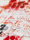 Prints, Cy Twombly (American, 1928-2011). 1986, 1986. Color poster. 29-1/2 x 22 inches (74.9 x 55.9 cm). From an edition of 1000...