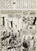 Original Comic Art:Panel Pages, Reed Crandall Valor #3 Story Page 1 Original Art (EC,1955)....