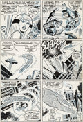 Original Comic Art:Panel Pages, John Romita Sr. and John Verpoorten Fantastic Four #104Story Page 16 Original Art (Marvel, 1970)....