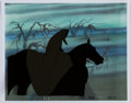 Animation Art:Production Cel, The Lord of the Rings Ringwraith and Horse Production Celand Print Background Setup (United Artists, 1978).... (Total: 2Original Art)