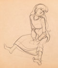 Animation Art:Production Drawing, The Black Cauldron Eilonwy Character Development Drawing(Walt Disney, 1985)....