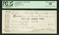 Obsoletes By State:Nevada, Gold Hill, NV- Gold Hill Miners' Union $8 Receipt July 29, 1878. ...