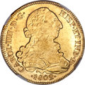 Chile, Chile: Charles IV gold 8 Escudos 1802 So-JJ MS62 NGC,...