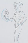 Animation Art:Production Drawing, Batman: the Animated Series Harley Quinn Animation Drawing(Warner Brothers, 1993)....