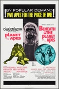 """Movie Posters:Science Fiction, Planet of the Apes/Beneath the Planet of the Apes Combo (20th Century Fox, R-1971). One Sheet (27"""" X 41""""). Science Fiction...."""