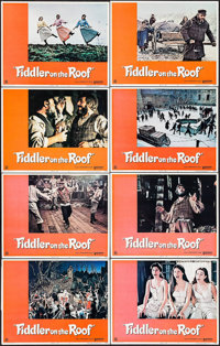 """Fiddler on the Roof & Other Lot (United Artists, 1972). Lobby Card Sets of 8 (2 Sets) (11"""" X 14""""). Musical..."""