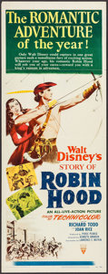 "Movie Posters:Adventure, The Story of Robin Hood (RKO, 1952). Insert (14"" X 36"").Adventure.. ..."