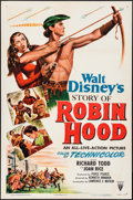 "Movie Posters:Adventure, The Story of Robin Hood (RKO, 1952). One Sheet (27"" X 41"").Adventure.. ..."