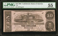 Confederate Notes:1862 Issues, T52 $10 1862 PF-11 Cr. 378.. ...