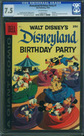 Silver Age (1956-1969):Cartoon Character, Dell Giant Comics Disneyland Birthday Party #1 (Dell, 1958) CGC VF- 7.5 Off-white pages.