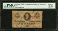 Confederate Notes:1863 Issues, T63 50 Cents 1863 PF-2....