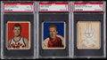 Basketball Cards:Lots, 1948 Bowman Basketball PSA Graded Trio (3)....
