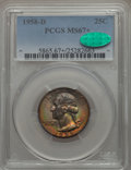 Washington Quarters, 1958-D 25C MS67+ PCGS. CAC. PCGS Population: (155/2 and 18/0+). NGCCensus: (263/1 and 2/0+). Mintage 78,124,896. ...