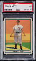 Baseball Cards:Singles (1940-1949), 1941 Play Ball Jimmie Foxx #13 PSA VG 3....