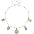 Estate Jewelry:Necklaces, Jadeite Jade, Gold Necklace. . ...