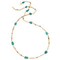Estate Jewelry:Necklaces, Turquoise, Gold Necklace. . ...