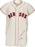 Baseball Collectibles:Uniforms, 1960 Ted Williams Game Worn & Signed Boston Red Sox Jersey, MEARS A10....